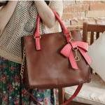 New Style Hit Color Three-dimensional Bow Handbag &bag