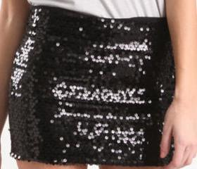 [grhmf2600030]Temperament Slim Sequined Circle Skirt