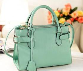 [grhmf2200053]Vintage Mint Green Handbag