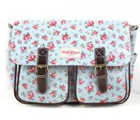 [grhmf2200052]Vintage Floral Canvas Messenger Bag