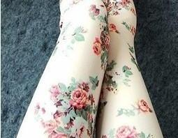 [grhmf26000151]Rose Floral Leggings Tights Pant Trousers