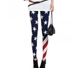 [grhmf26000150]USA American Flag Leggings Tights Pant Trousers