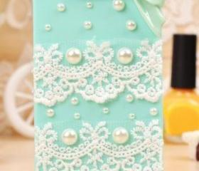 Fashion Lace With Bows cover for iphone 4/4s
