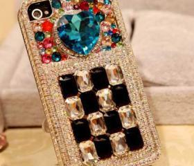 Unique Gem Crystal Full Drill Handmade Case For Iphone 5