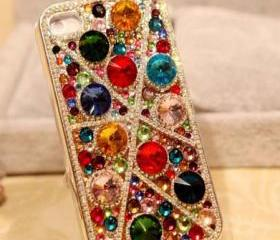 Unique Gem Crystal Full Drill Handmade Case For Iphone 4/4s
