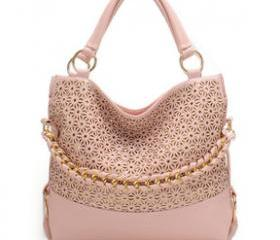 [grhmf2200043]Hollow Out Sequined Shoulder Bag Handbag-pink
